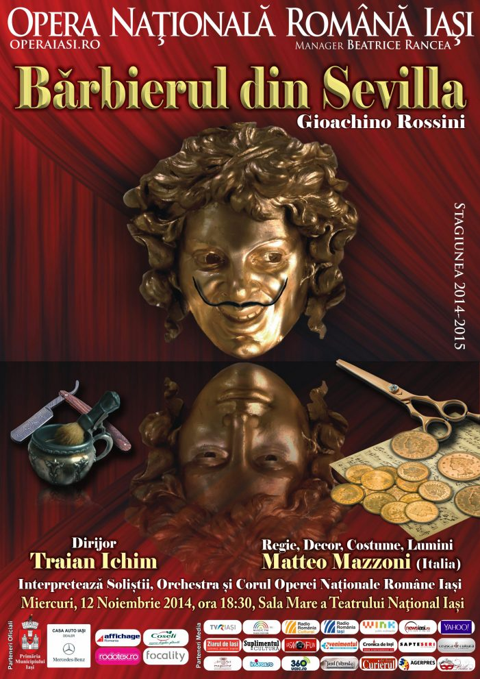 """Invitație la operă – """"Bărbierul din Sevilla"""" de Gioachino Rossini"""