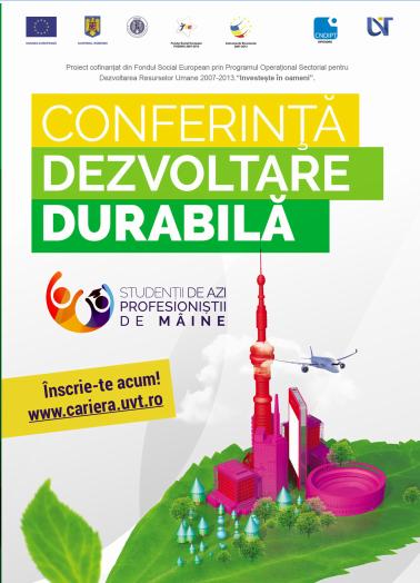 Câştigă o excursie la Timişoara înscriindu-te la o conferinţă de dezvoltare durabilă