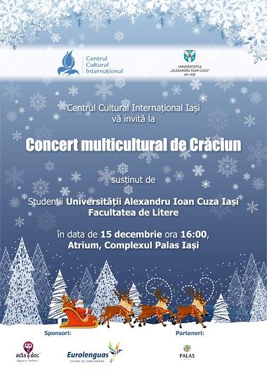 Concert multicultural de colinde susținut de studenții facultății de Litere