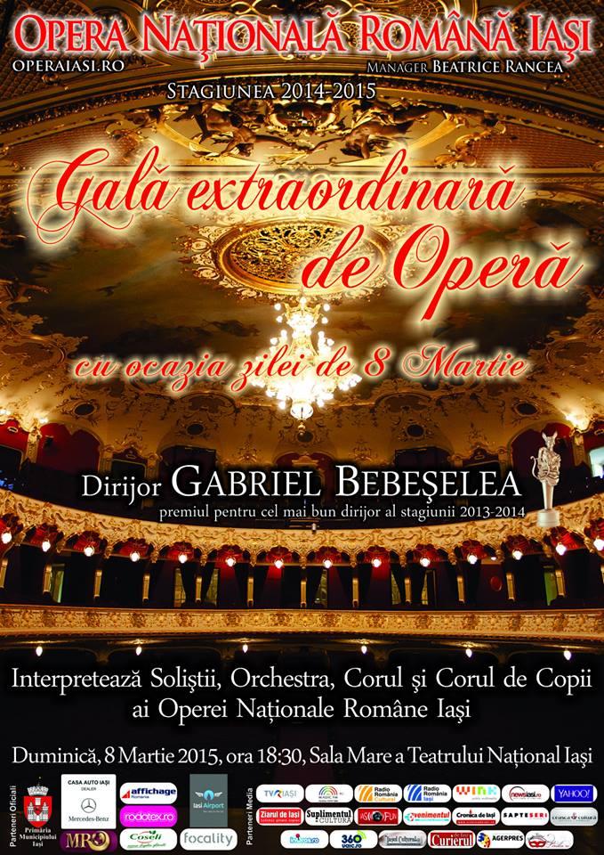 Gala Extraordinară la Opera Națională Română din Iași