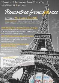 affiche Rencontres francophones (F. Flori), 06.05.2015