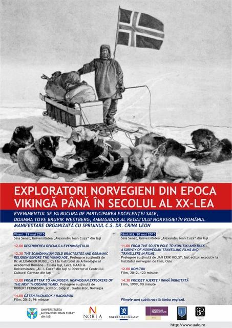Exploratori norvegieni din epoca vikingă până în sec. al XX-lea