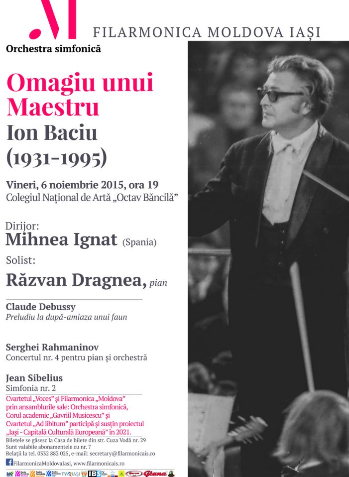 Agenda spectacolelor lunii noiembrie, la Filarmonică