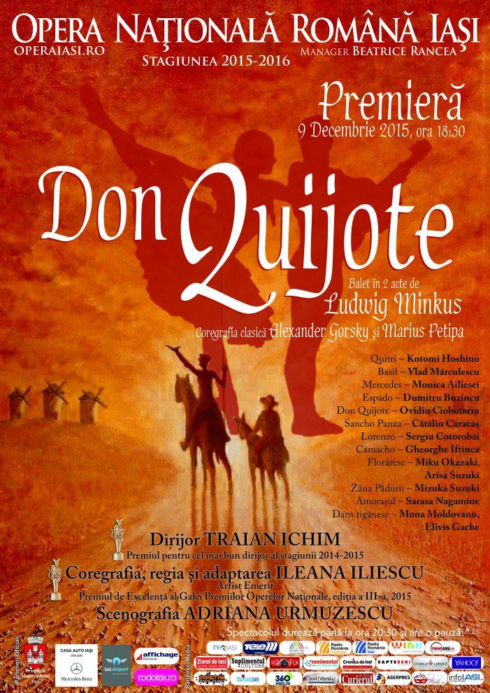 Don Quijote pe scena Operei Naționale ieșene