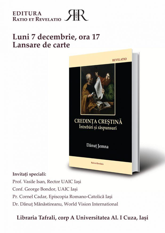 """Lansare de carte – """"Credința creștină. Întrebări și răspunsuri"""" de Dănuț Jemna"""