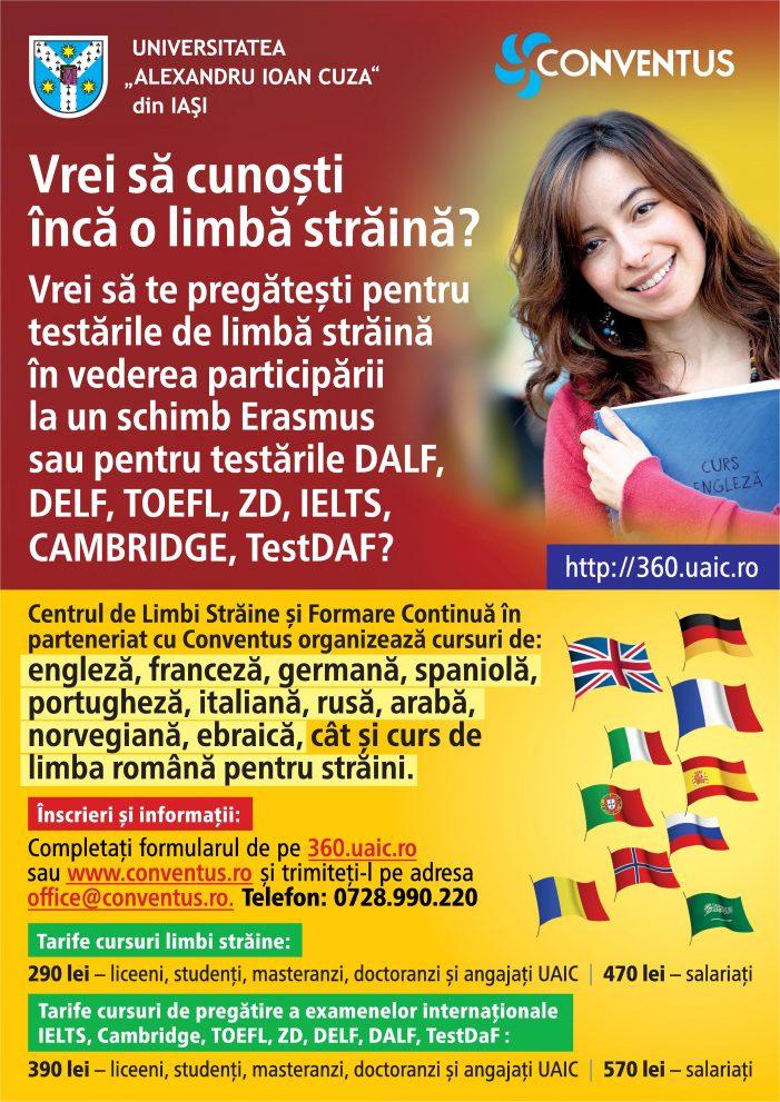 Înscrieri deschise pentru cursuri de limbi străine