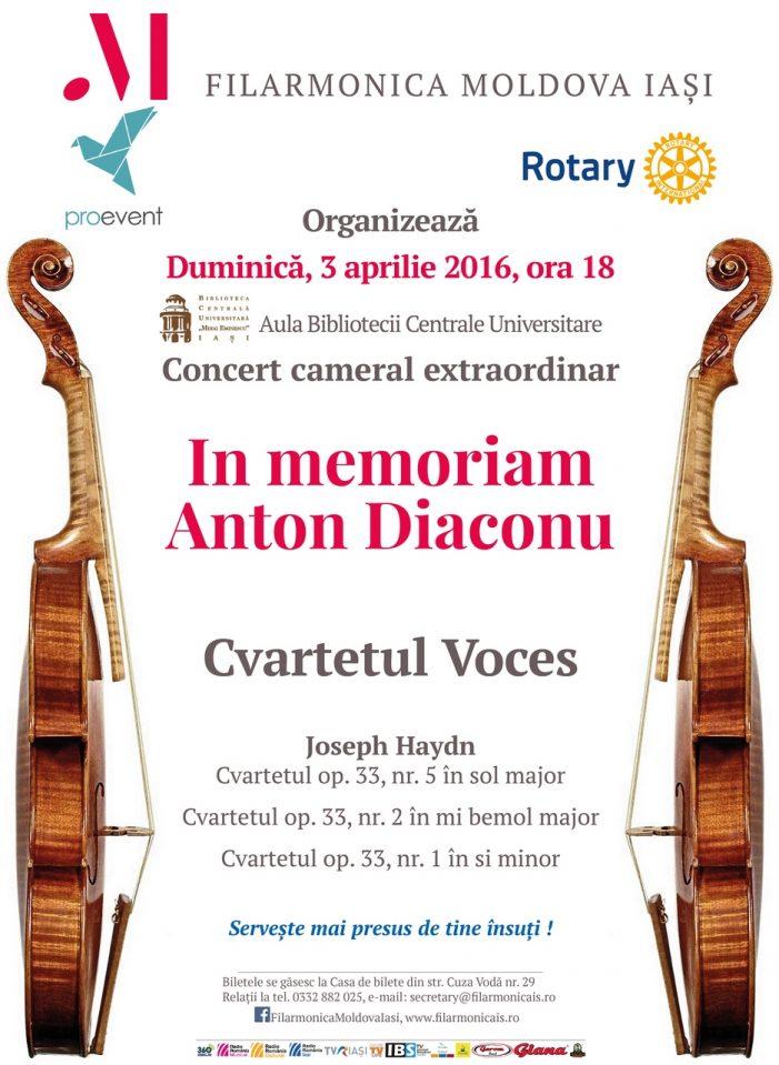Concert cameral extraordinar In memoriam Anton Diaconu