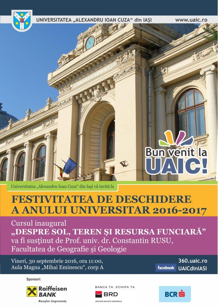 Festivitatea de deschidere a anului universitar 2016 – 2017