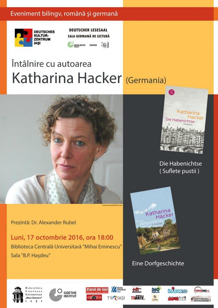 Întâlnire cu autoarea germana Katharina Hacker