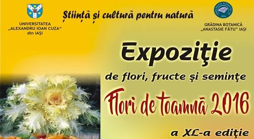 """Grădina Botanică """"Anastasie Fătu"""" organizează ediția a XL-a a evenimentului """"Flori de toamnă 2016"""""""