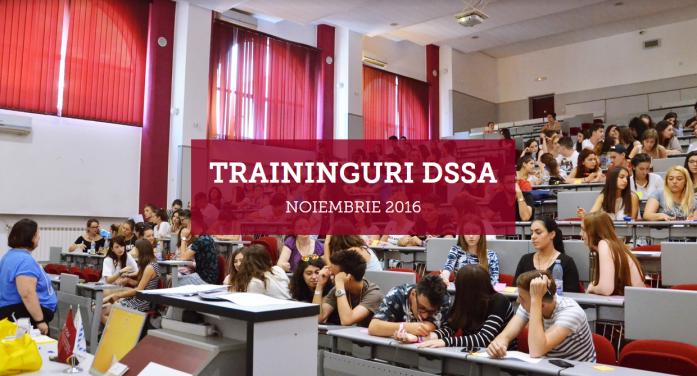 Trainingurile gratuite oferite de DSSA în luna noiembrie