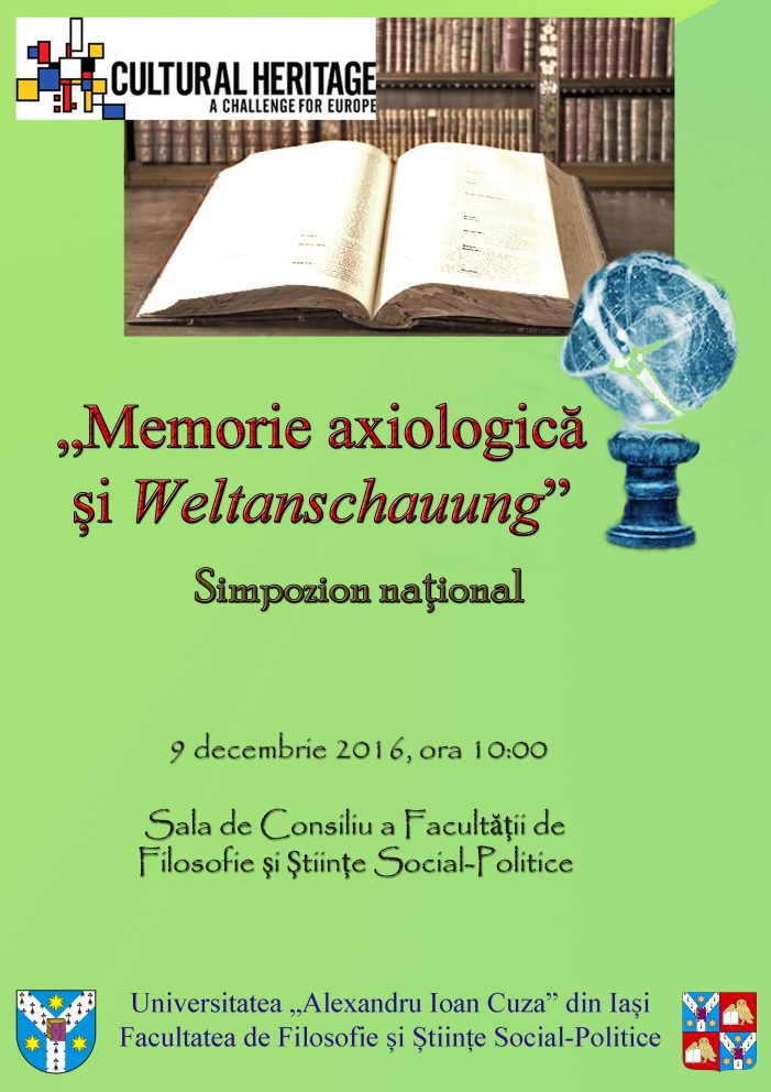 "CALL FOR PAPERS: Simpozion ""Memorie axiologică şi Weltanschauung"""
