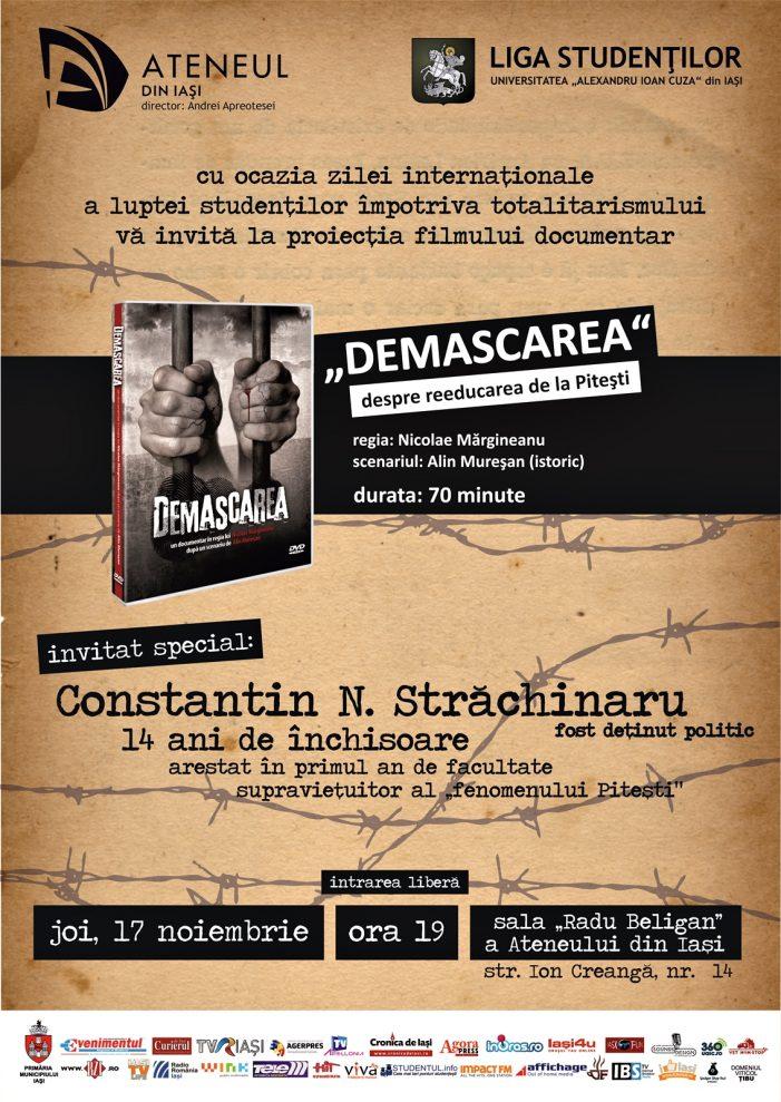 Proiecție de film la Ateneul din Iași