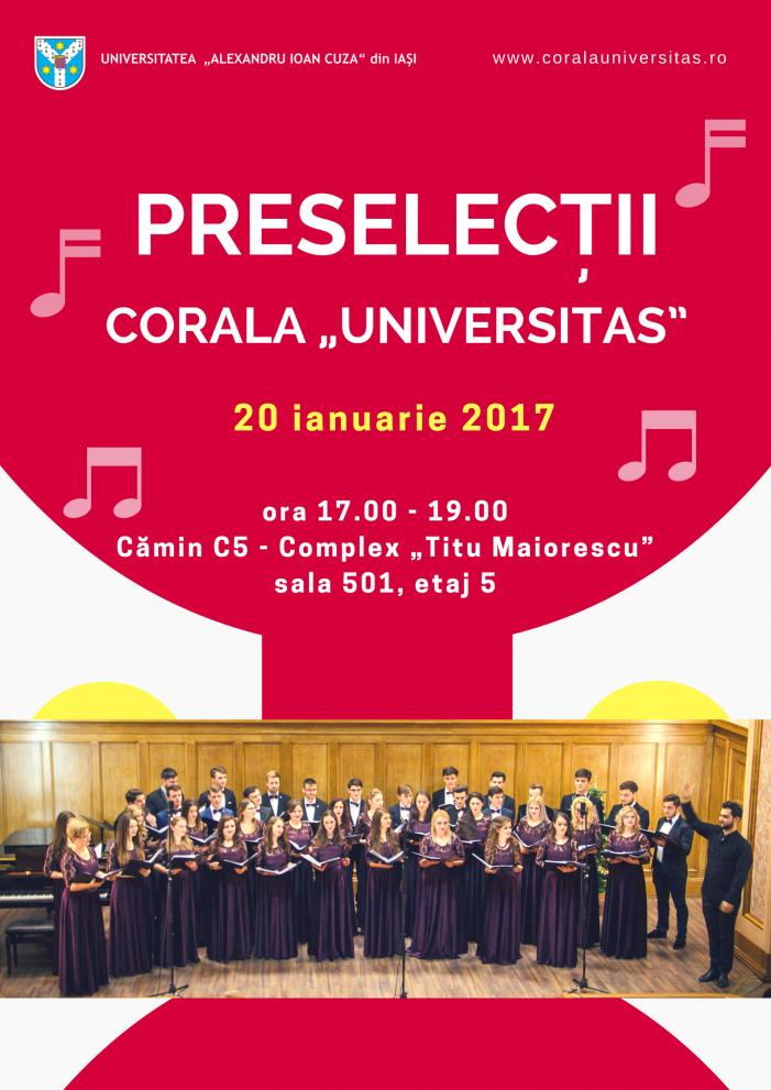 "Corala ""Universitas"" organizează preselecții!"