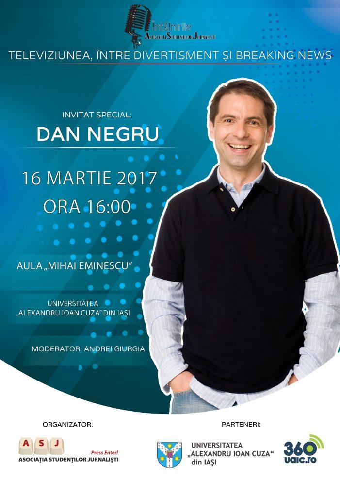 Dan Negru vine la Întâlnirile ASJ