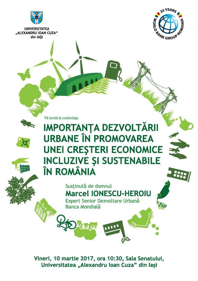 """Conferința """"Importanța dezvoltării urbane în promovarea unei creșteri economice incluzive și sustenabile"""""""