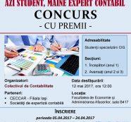 Concurs cu premii: Azi student, mâine expert contabil