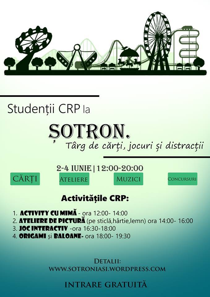 """Studenții se implică în organizarea evenimentului """"Șotron. Târg de cărți, jocuri si distracții"""""""