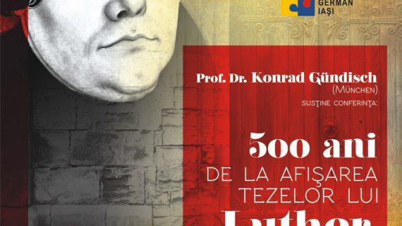 """Conferința """"500 ani de la afisarea tezelor lui Luther: Reforma in Transilvania"""""""