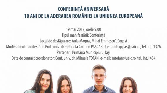 Săptămâna Europeană la UAIC: Conferință Aniversară