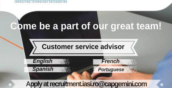 Capgemini recrutează Customer Service Advisor