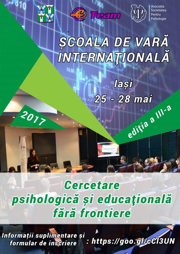 Școala de Vară Internațională: Cercetarea psihologică și educațională fără frontiere, ediția a III-a