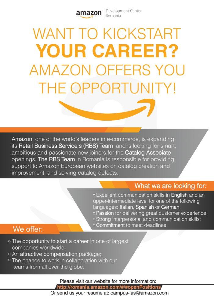 Amazon oferă oportunități de angajare