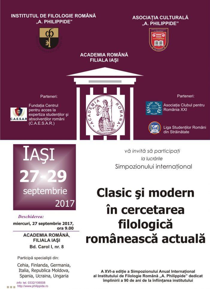 Clasic şi modern în cercetarea filologică românească actuală