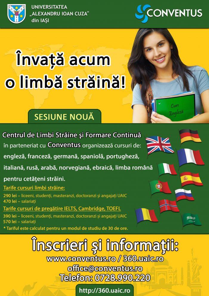 Cursuri de limbi străine disponibile la UAIC