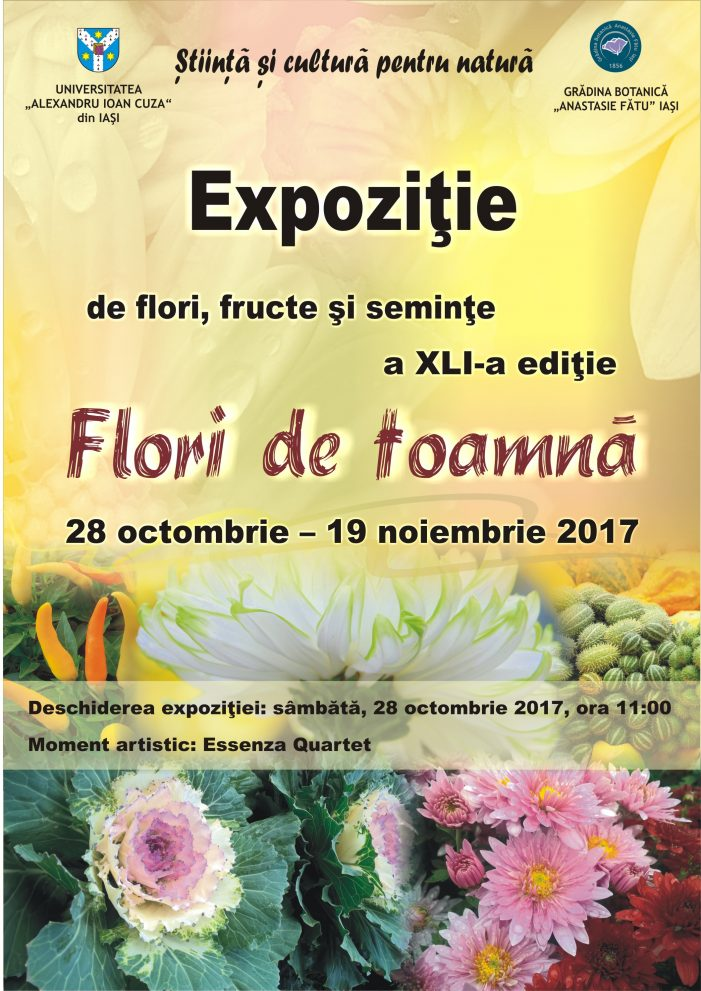 """Expoziția """"Flori de toamnă"""", a XLI-a ediție"""