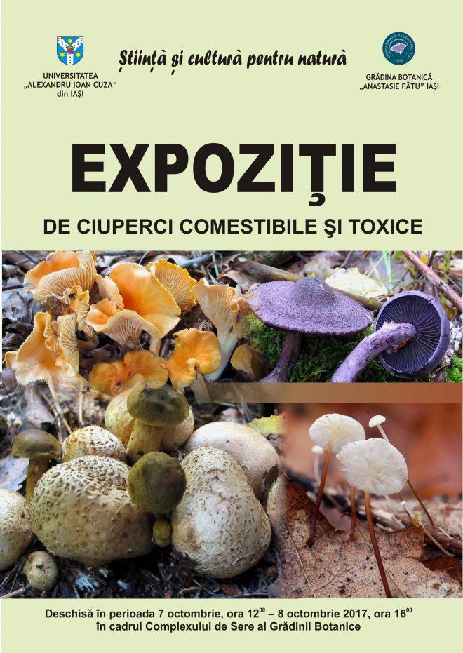 Expoziție de ciuperci comestibile și toxice la Grădina Botanică