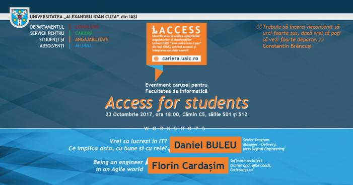 DSSA te invită la 2 ateliere de IT în cadrul programului ACCESS