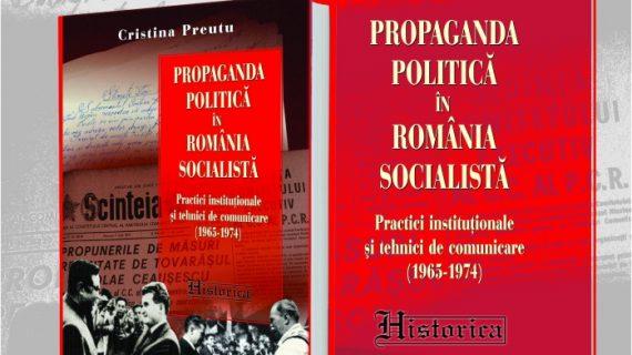 """Lansare de carte la Chișinău: """"Propaganda politică în România socialistă"""", de Cristina Preutu"""