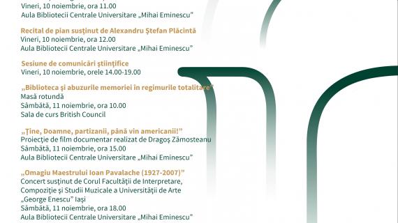 """Zilele Bibliotecii Centrale Universitare """"Mihai Eminescu"""" Iaşi"""