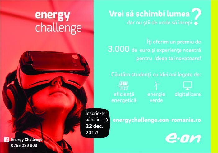 """E.ON România prezintă Concursul """"Energy Challenge"""""""
