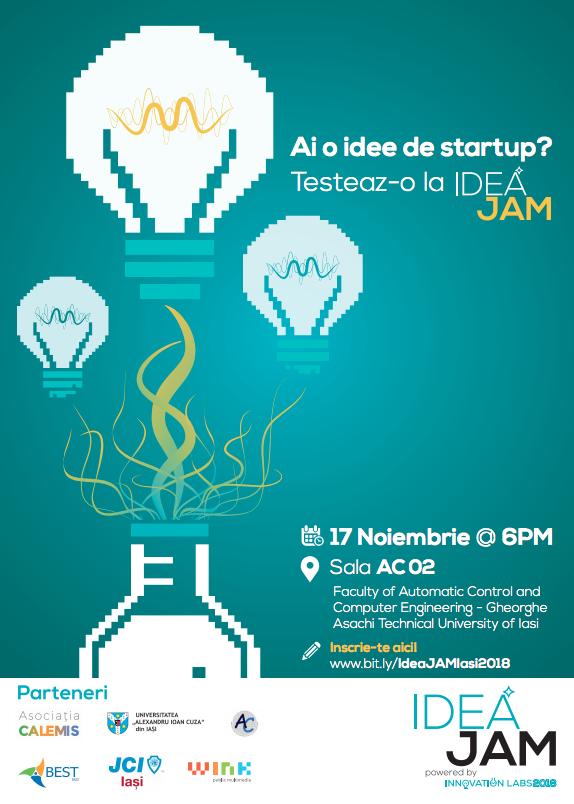 IdeaJAM, ediția a doua: concurs de prezentare a ideilor inovatoare din tehnologie