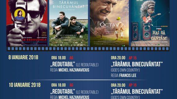 Programul cinematografului Ateneu în perioada 8-14 ianuarie 2018