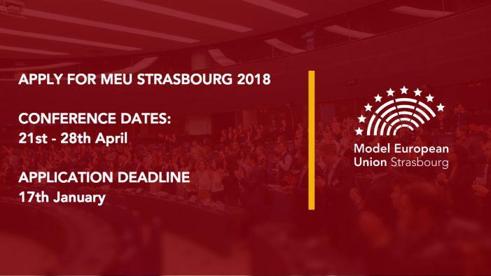 Înscrieri deschise pentru Model European Union Strasbourg 2018