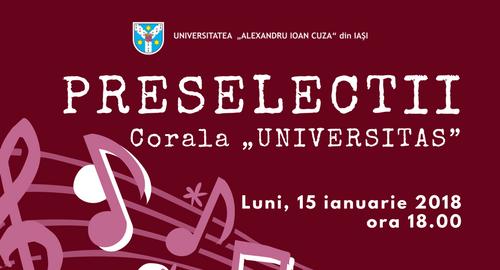 "Preselecţii Corala ""Universitas"" 15 ianuarie 2018"