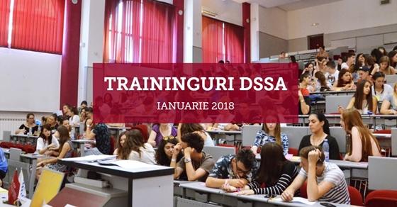 DSSA organizează traininguri gratuite pentru studenții UAIC (ianuarie 2018)