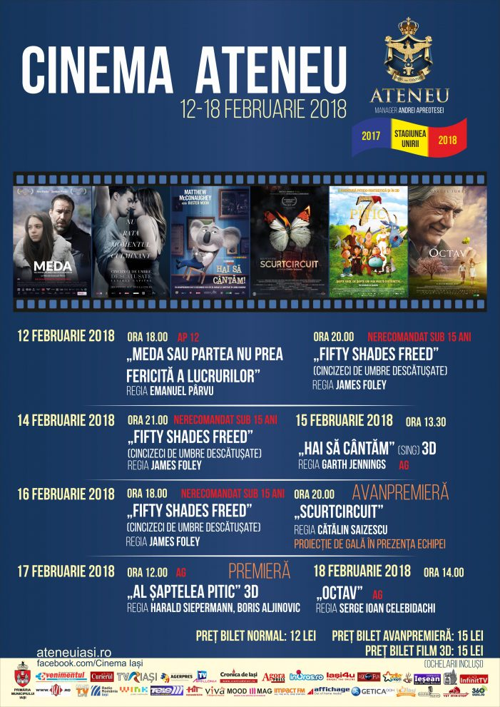 Program Cinema Ateneu, 12 – 18 februarie 2018
