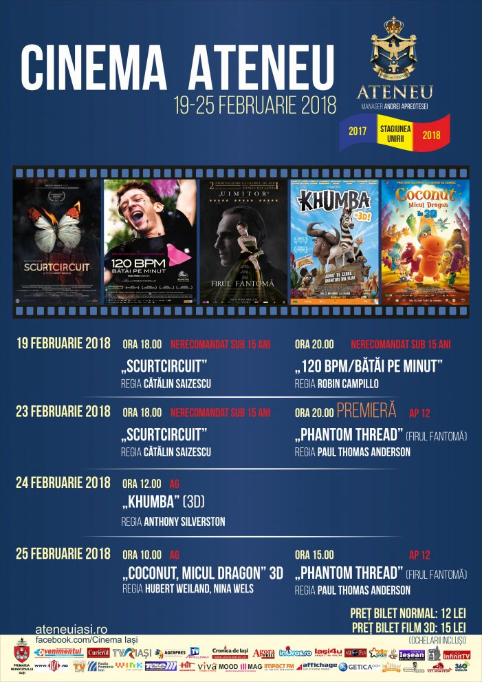 Program Cinema Ateneu 19-25 feb 2018