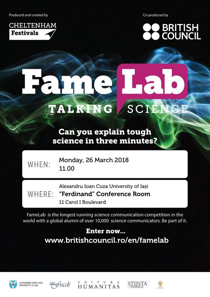 Înscrieri prelungite pentru Fame Lab 2018