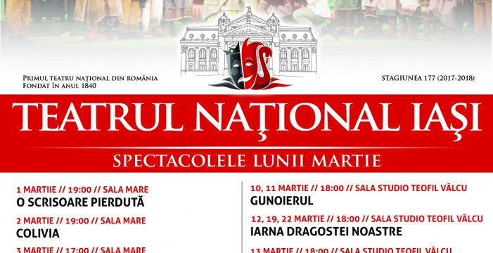 Programul Teatrului National Iași în luna martie