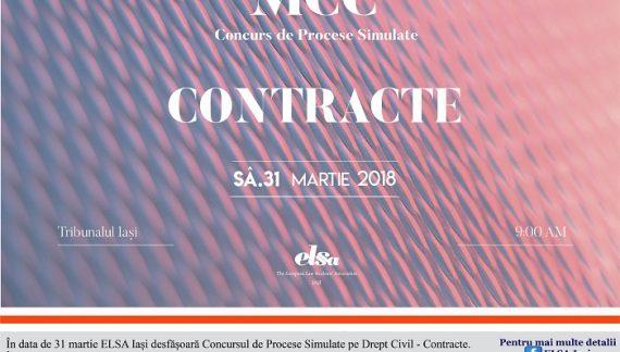 ELSA Iași organizează Concursul de Procese Simulate în materie de Drept Civil