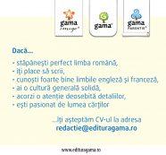 Editura Gama angajează redactor și corector