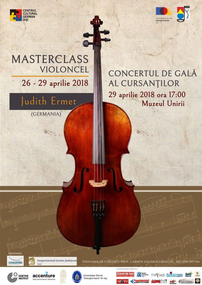 Concert de gală al cursanților Masterclass-ului de violoncel susținut de Judith Ermert (Germania)