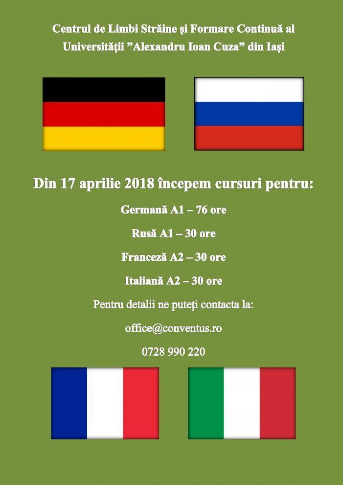 Noi înscrieri pentru cursuri de limbi străine
