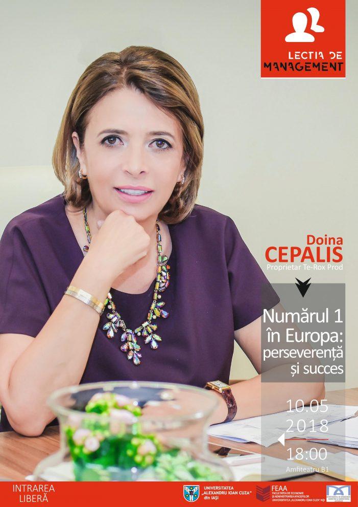 """Lectia de management – ediția a XIV-a: """"Numărul 1 în Europa: perseverență și succes"""""""