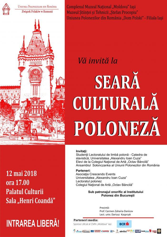 Seara Culturală Poloneză la Palatul Culturii